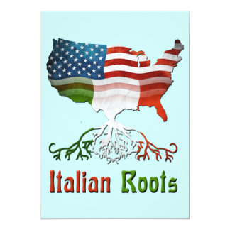 American Italian Roots Invitation