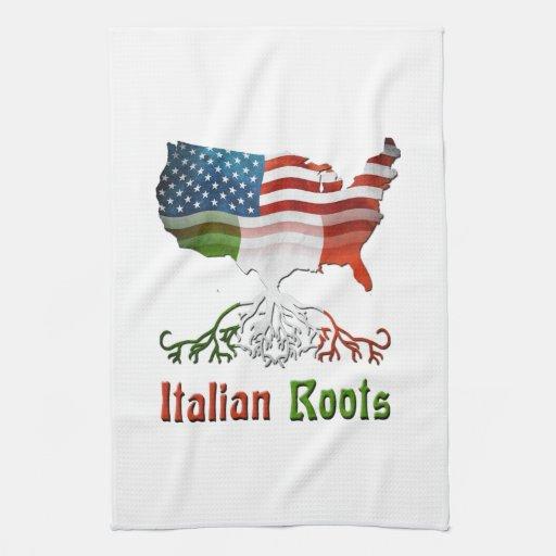 American Italian Roots Kitchen Towels