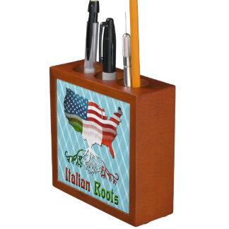 American Italian Roots Pencil Holder