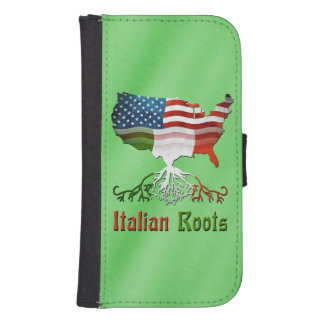 American Italian Roots Samsung S4 Wallet Case