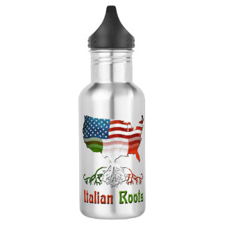 American Italian Roots Water Bottle