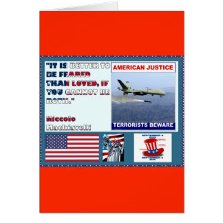 American Justice Airforce Drone Terrorists Beware Card