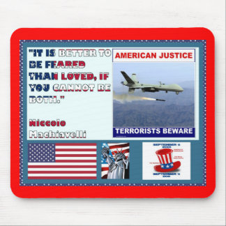 American Justice Airforce Drone Terrorists Beware Mouse Pad