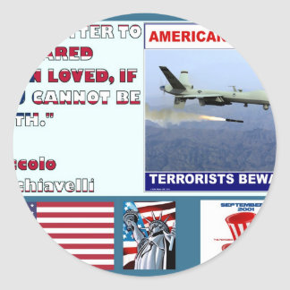 American Justice Airforce Drone Terrorists Beware Stickers