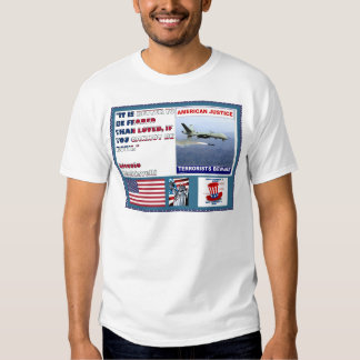 American Justice Airforce Drone Terrorists Beware Tee Shirt
