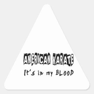 American Karate It's in my blood Triangle Sticker