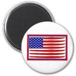American Kayak Flag Fridge Magnet