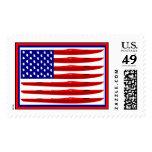 American Kayak Flag Postage Stamp