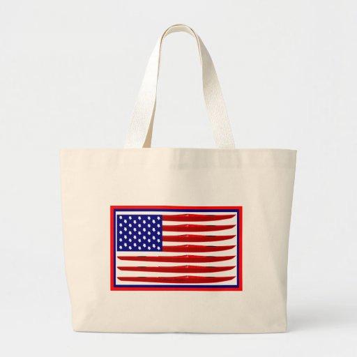 American Kayak Flag Tote Bag