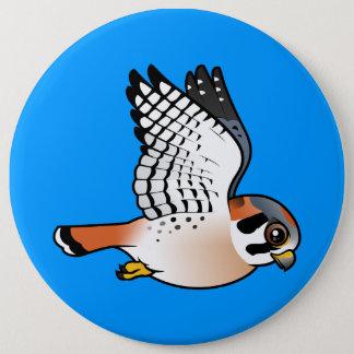American Kestrel in flight Button