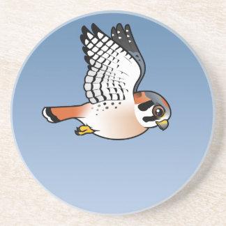 American Kestrel in flight Coaster