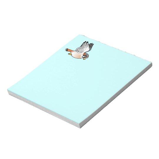 American Kestrel in flight Notepad