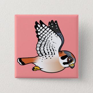 American Kestrel in flight Pinback Button