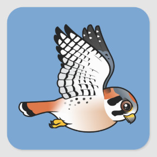 American Kestrel in flight Square Sticker