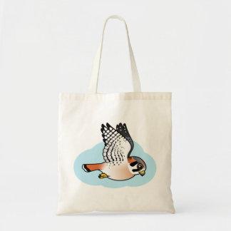 American Kestrel in flight Tote Bag
