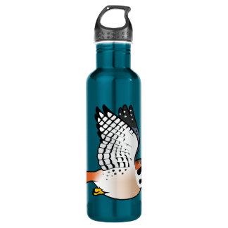 American Kestrel in flight Water Bottle