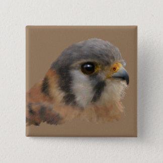 American Kestrel Portrait Pinback Button