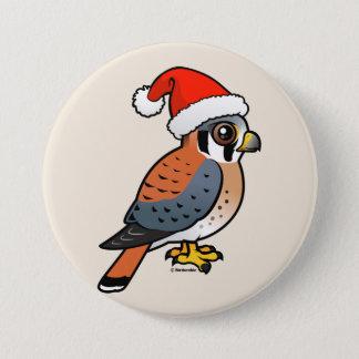 American Kestrel Santa Button