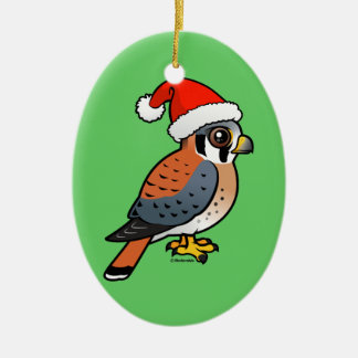 American Kestrel Santa Ornament