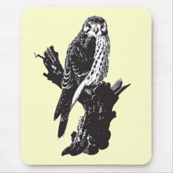 Mousepad with American Kestrel Sketch design