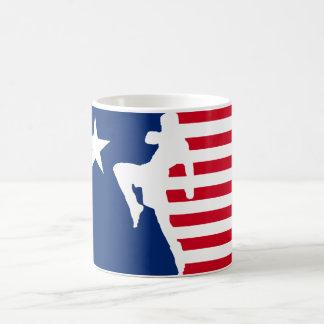 American Kickboxing Classic White Coffee Mug