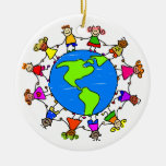 American Kids Double-Sided Ceramic Round Christmas Ornament