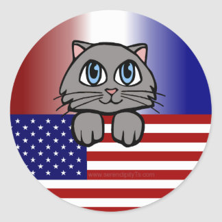 American Kitty Classic Round Sticker