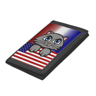 American Kitty Trifold Wallets