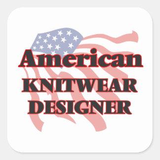 American Knitwear Designer Square Sticker