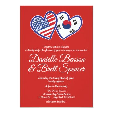 Bride Themed American Korean Love Wedding Invitation