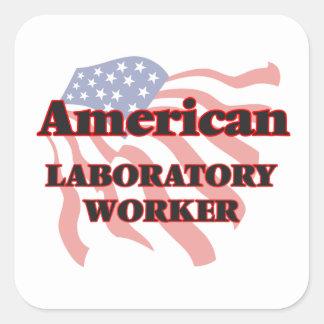 American Laboratory Worker Square Sticker