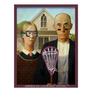 American Lacrosse Gothic Poster