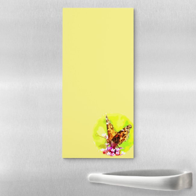American Lady Butterfly Magnetic Fridge Notepad