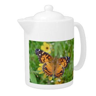 American Lady Butterfly - Vanessa virginiensis Teapot