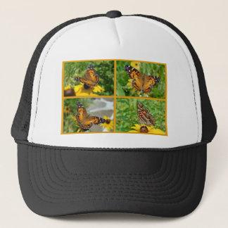 American Lady Butterfly - Vanessa virginiensis Trucker Hat