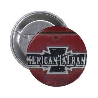 American LaFrance Firetruck Emblem Pinback Button
