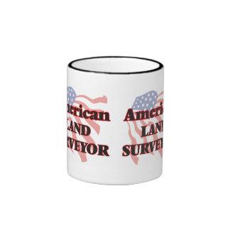 American Land Surveyor Ringer Coffee Mug
