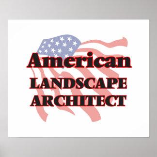 American Landscape Architect Poster