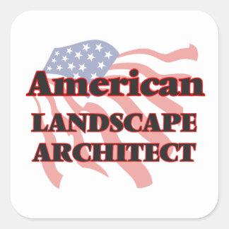 American Landscape Architect Square Sticker