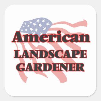 American Landscape Gardener Square Sticker