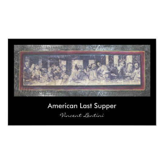 American Last Supper Poster