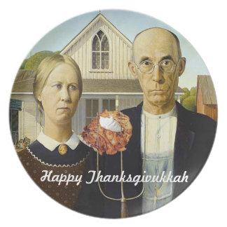 American Latke Thanksgivukkah Plate
