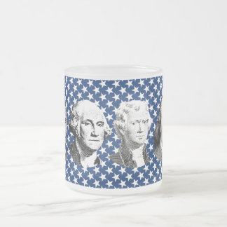 American Leaders with Stars Background Mugs