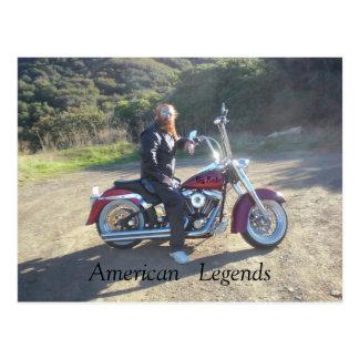 American   Legends, Big Red post card 1