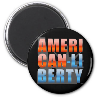 American Liberty 2 Inch Round Magnet