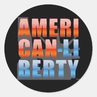 American Liberty Classic Round Sticker