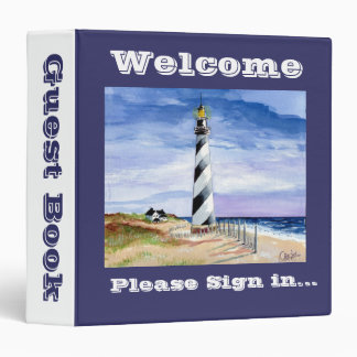 American Lighthouse guest book Binder