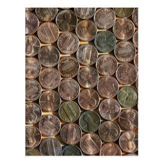 American Lincoln Pennies Texture Postcard