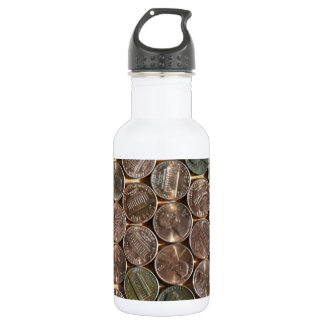 American Lincoln Pennies Texture Water Bottle