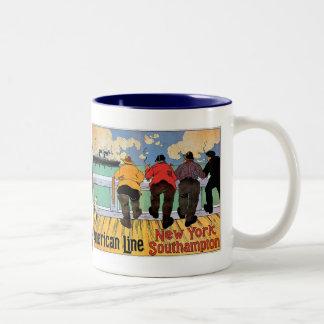 American Line Poster Coffee Mugs